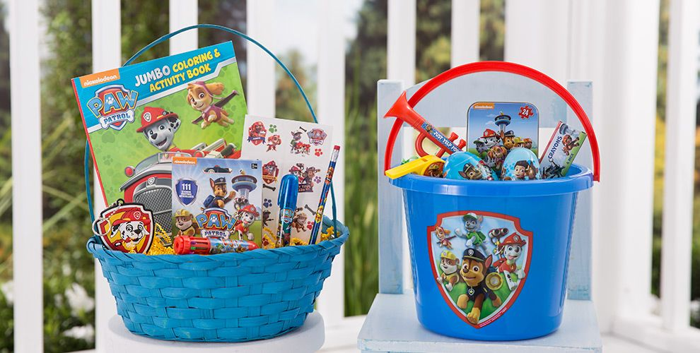 Character baskets build your own basket party city build your own paw patrol easter basket negle Choice Image