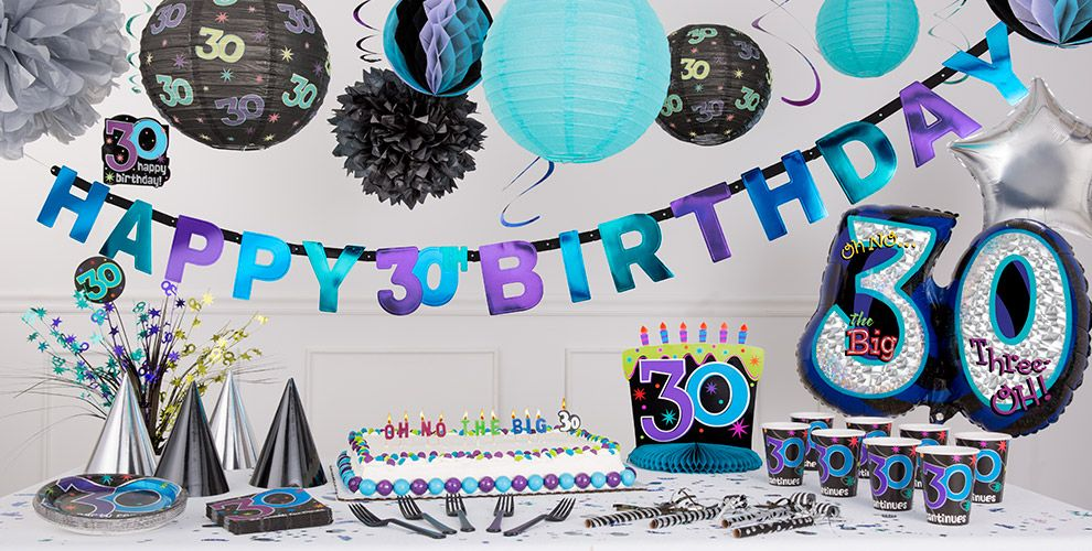 The party continues 30th birthday party supplies party city for 30th birthday decoration