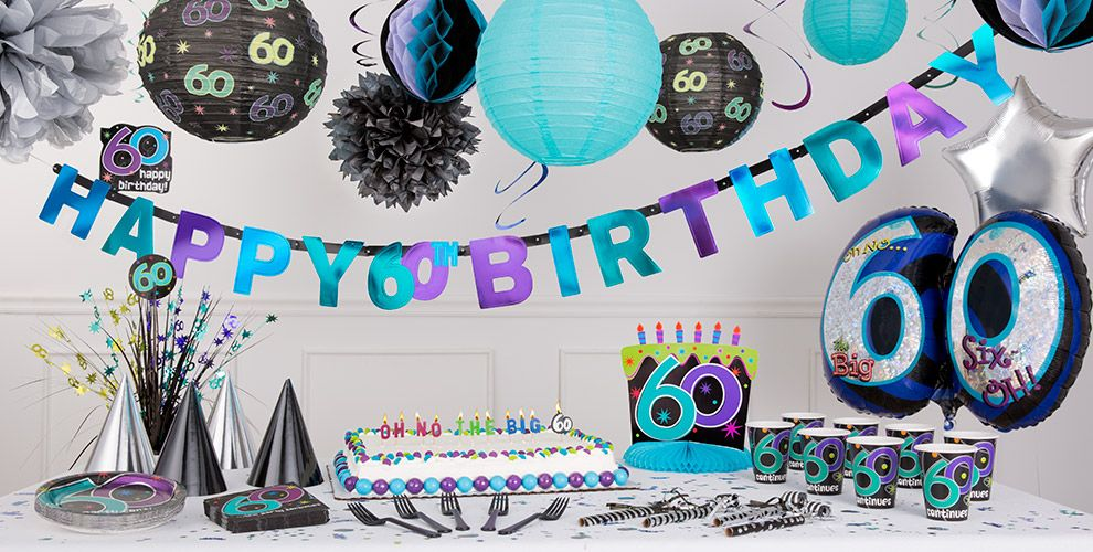 The party continues 60th birthday party supplies party city for 60th birthday decoration ideas