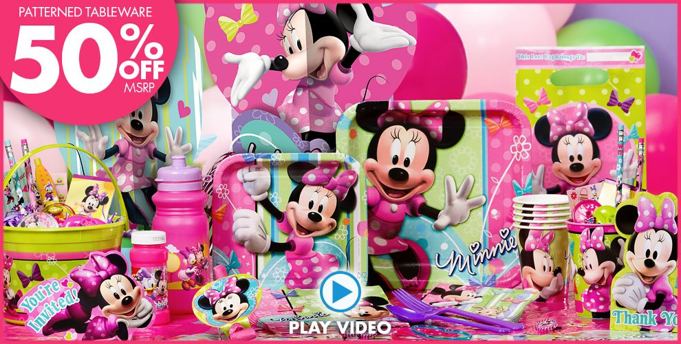 Minnie Mouse Party Supplies #1