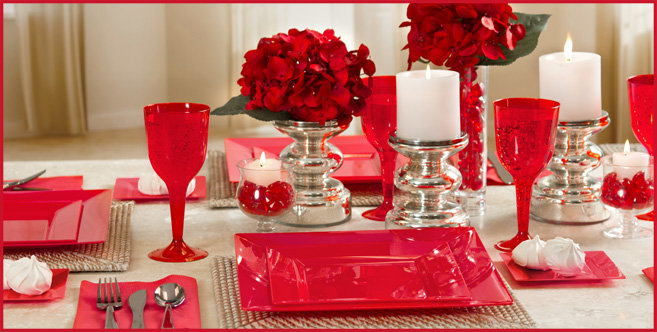 solid red tableware #2