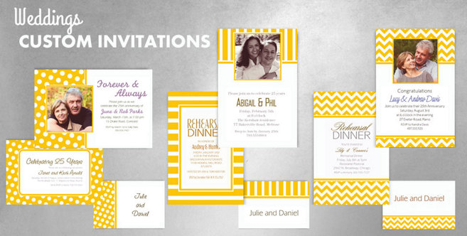 Yellow Wedding Custom Invtitaions and Banners #1
