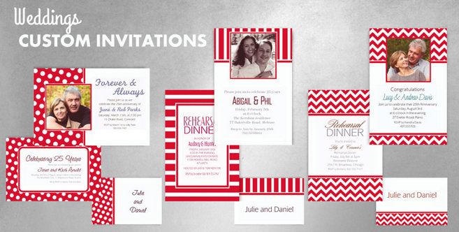 Red Wedding Custom Invtitaions and Banners #1