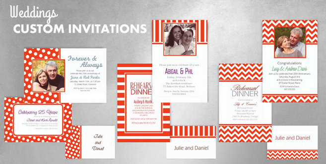 Orange Wedding Custom Invtitaions and Banners #1