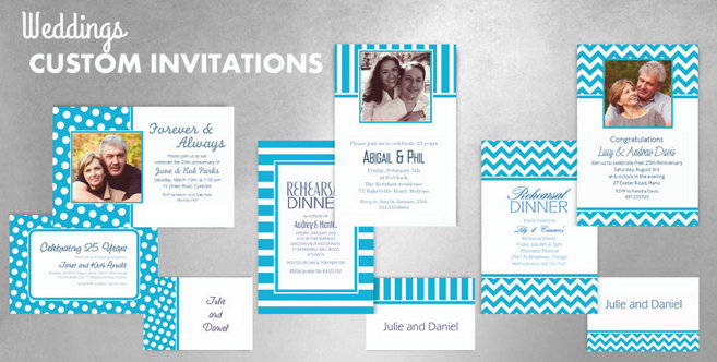 Caribbean Blue Wedding Custom Invtitaions and Banners #1
