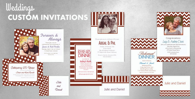 Brown Wedding Custom Invtitaions and Banners #1