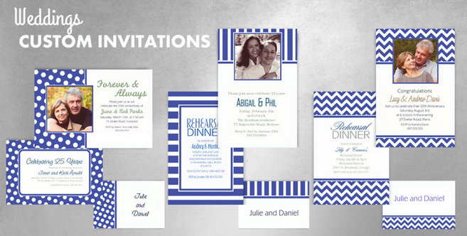 Royal Blue Wedding Custom Invtitaions and Banners #1