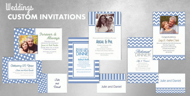 Pastel Blue Wedding Custom Invtitaions and Banners #1