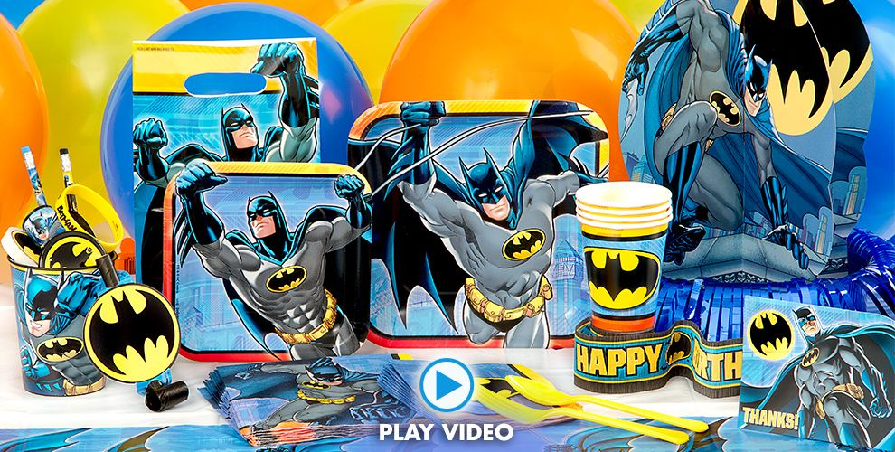 Batman Party Supplies - Batman Birthday Ideas - Party City