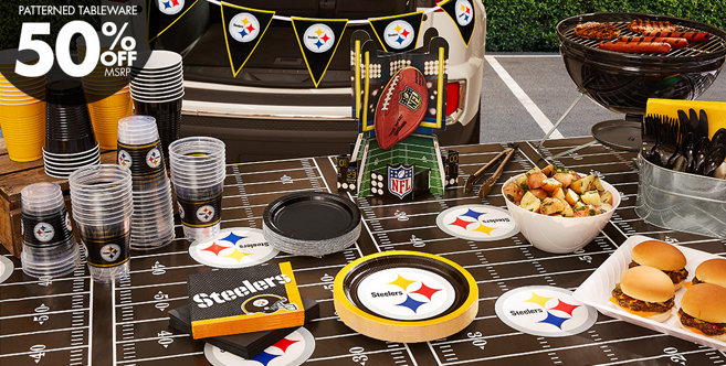 ... location imageurl script li nfl pittsburgh steelers party supplies