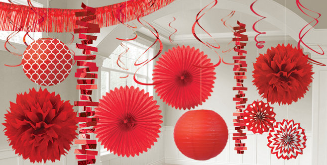 Red Decorations Balloons Banners amp Confetti Party City