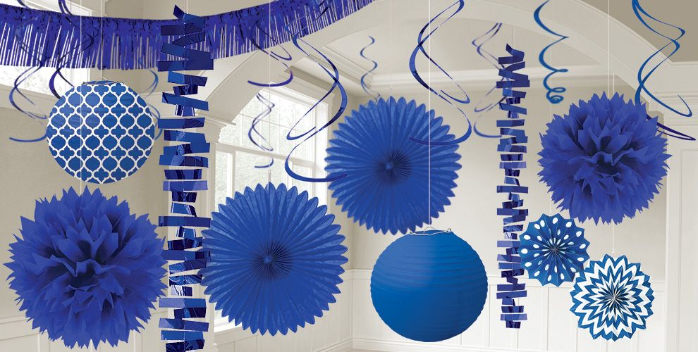 Royal Blue Decorations Balloons Banners