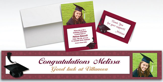 Berry Graduation Custom Invitations and Banners #1