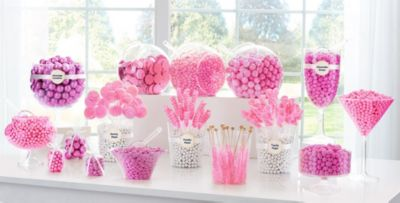 Bright Pink Candy Buffet Supplies