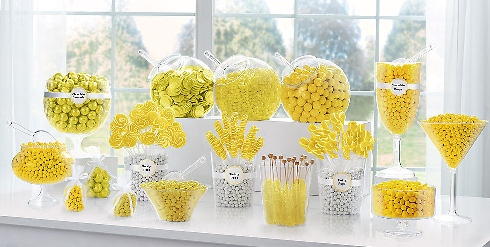 Yellow Candy Buffet Supplies amp Containers