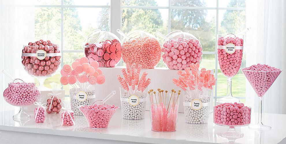 Light Pink Candy Buffet Supplies Light Pink Candy