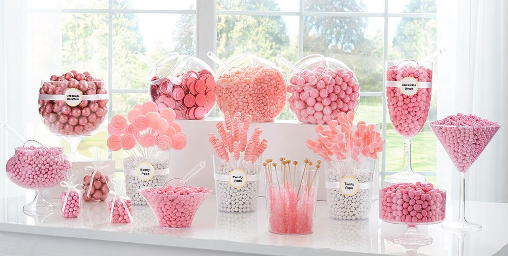 Light Pink Candy Buffet Supplies Light Pink Candy