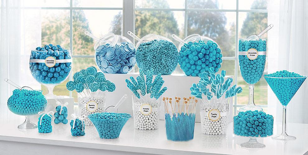 Caribbean Blue Candy Buffet Supplies