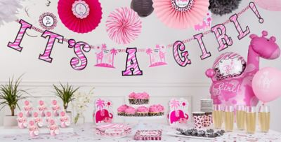 Pink Baby Shower Decorations Part - 31: Party City
