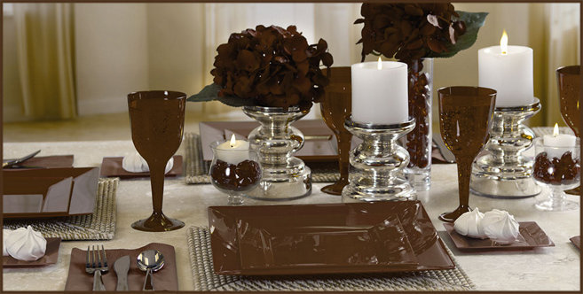 Solid Chocolate Brown Tableware #2