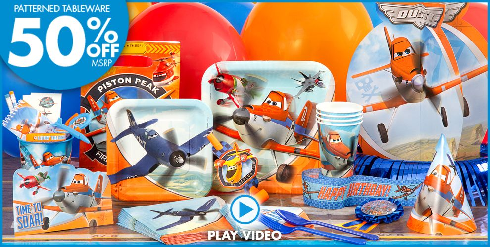 Planes 2 Party Supplies #1
