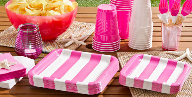 Pink Cabana Party Supplies #1