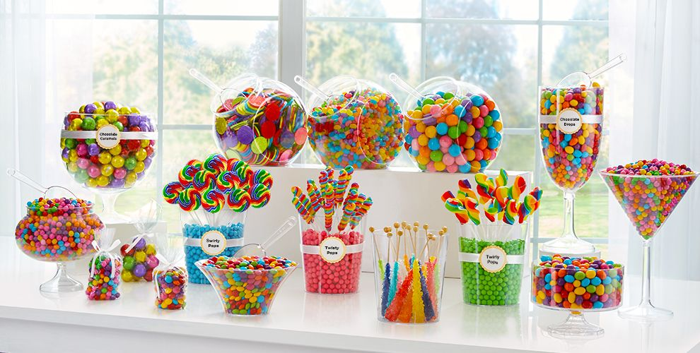 Rainbow Candy Buffet Supplies Rainbow Candy Amp Containers