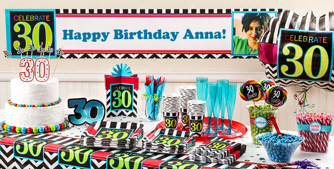 Celebrate 30th Birthday Party Supplies 30th Birthday