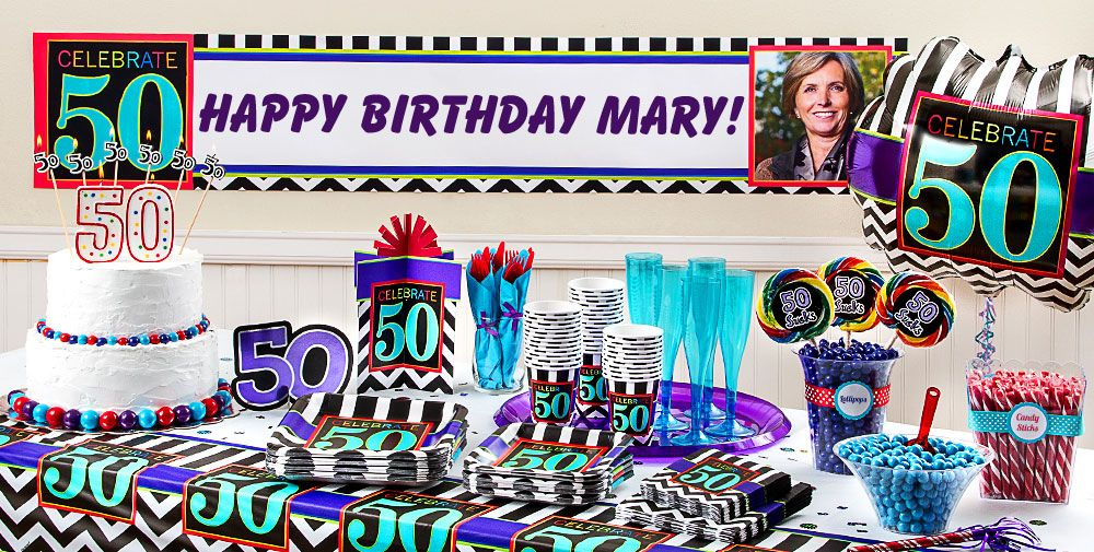 Celebrate 50th Birthday Party Supplies