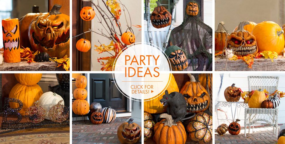 Scary Pumpkin Party Supplies #3