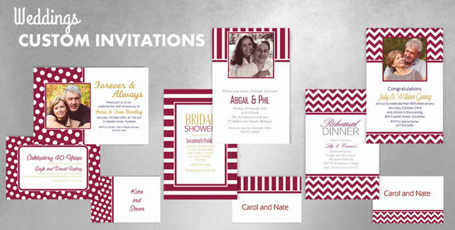 Berry Wedding Custom Invtitaions and Banners #1