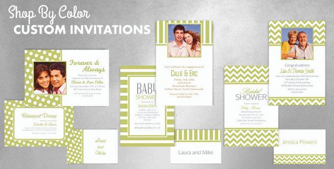Leaf Green Custom Invitations and Banners #1