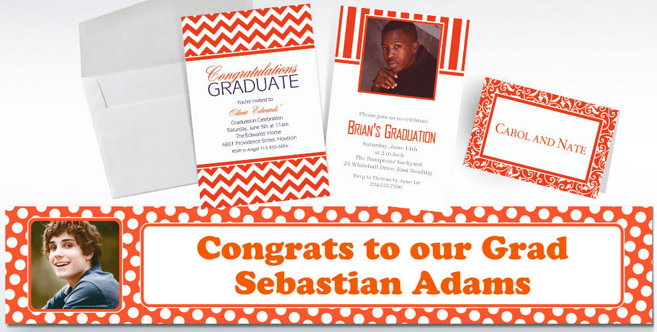 Orange Custom Invitations and Banners #1