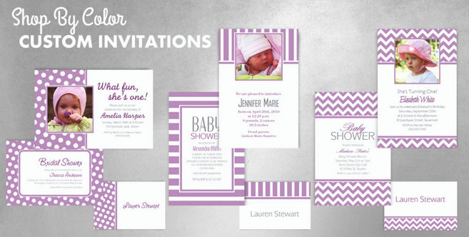 Lavender Custom Invitations and Banners #1