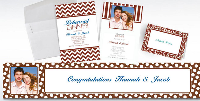 Chocolate Brown Custom Invitations and Banners #1