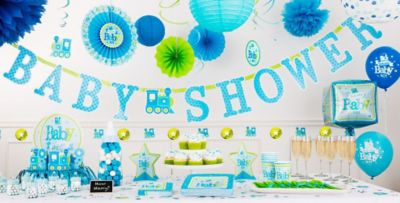 Nice Baby Boy Shower Decorations Part - 10: Party City