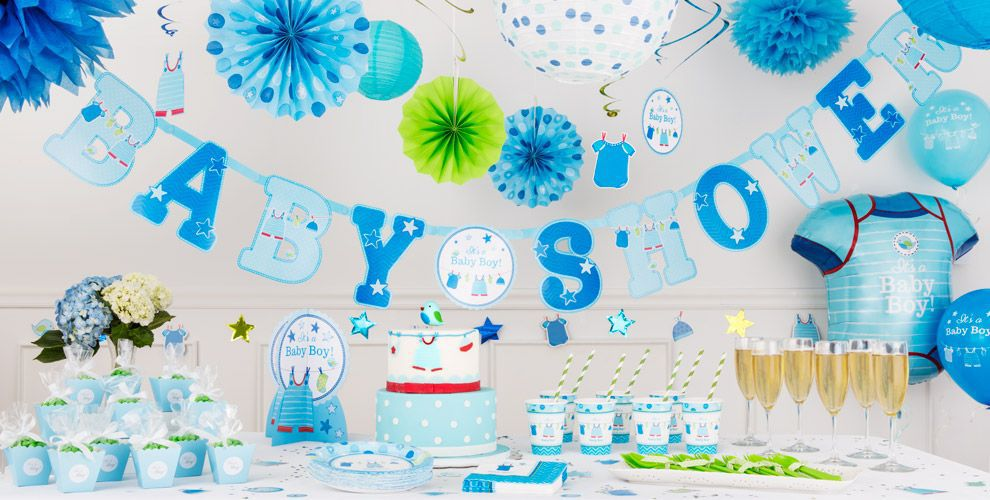 It s a boy baby shower decorations party city for Baby shower decoration kits boy