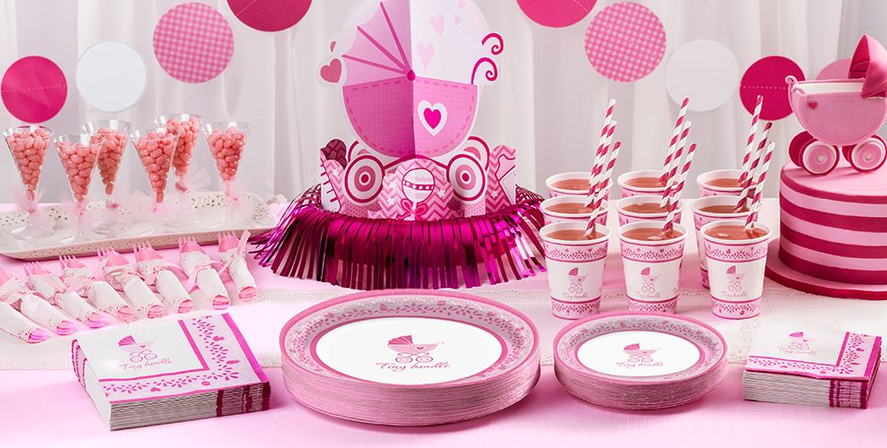 celebrate girl baby shower supplies party city