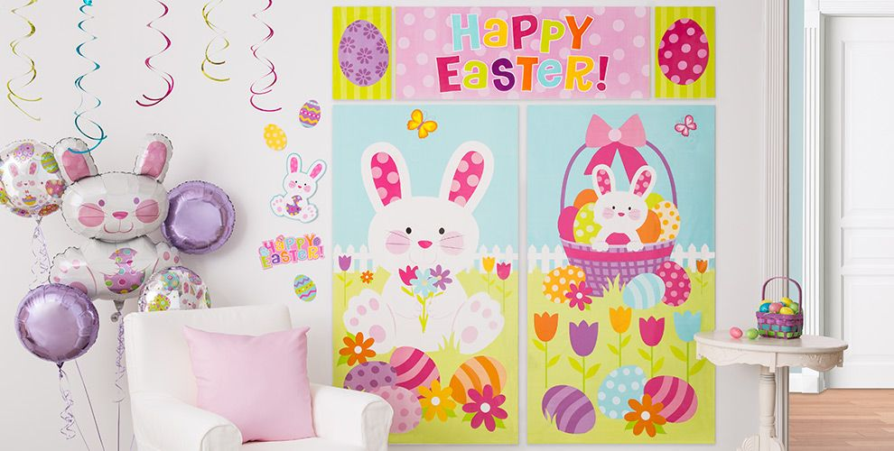 wall window easter decorations party city - Easter Decoration