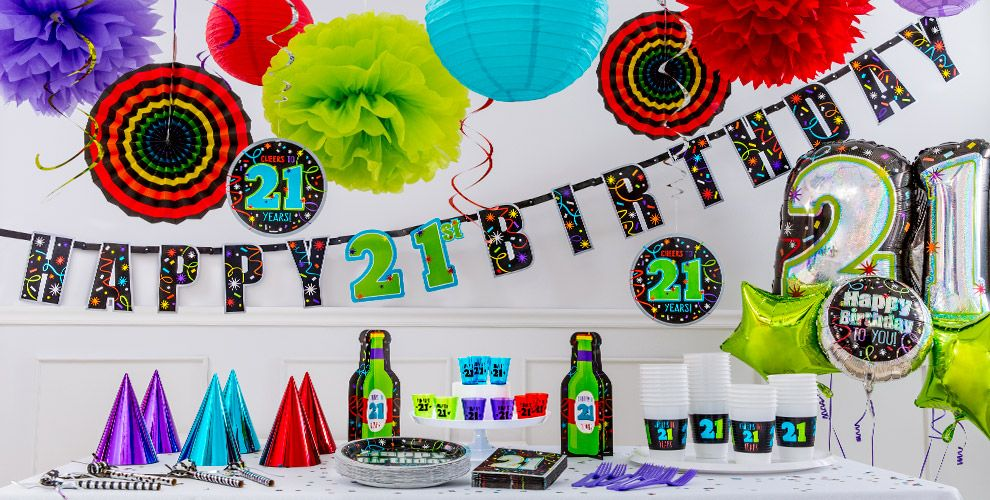 Brilliant 21st birthday party supplies decorations for 21st birthday decoration ideas