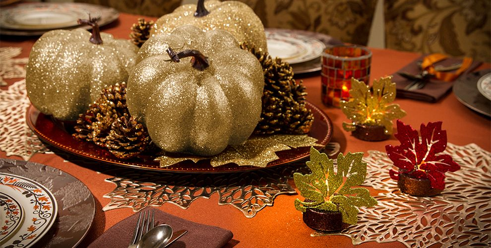 Thanksgiving Table Decorations - Thanksgiving Table Decor - Party City