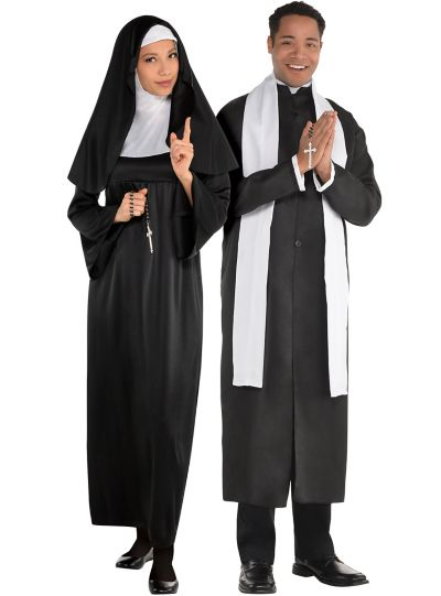 Holy Sister Nun and Pope Couples Costumes