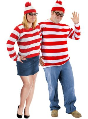 Plus Size Where's Waldo Couples Costumes