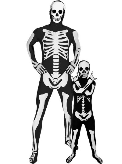 Skeleton Morphsuits Daddy and Me Costumes