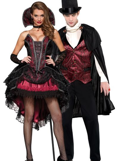 Vampire Vixen and Count Couples Costumes