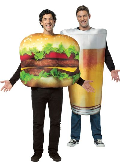 Beer and Burger Couples Costumes