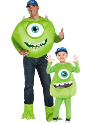Monsters University Mike Daddy and Me Costumes