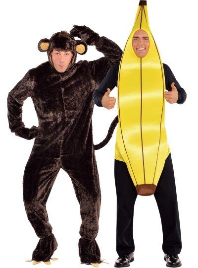 Monkey and Banana Couples Costumes