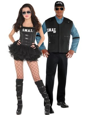 Adult Hot SWAT & SWAT Officer Couples Costumes