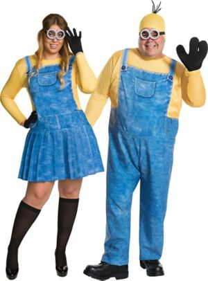 Adult Minions Couples Costumes Plus Size